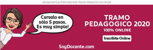 Banner publicitario para cursar el tramo pedagógico en soydocente.com